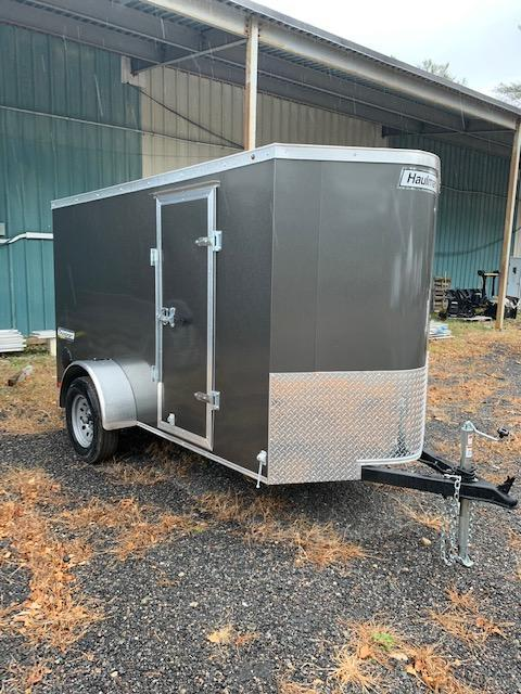 2019 Haulmark Transport 5X10 Enclosed Cargo Trailer w/ Ramp Door - Charcoal