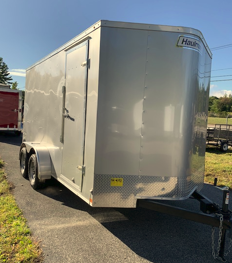 2019 Haulmark Passport 7X14 Enclosed Cargo Trailer - w/ RAMP - Silver