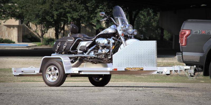 2021 ALUMA MC10 MOTORCYCLE TRAILER