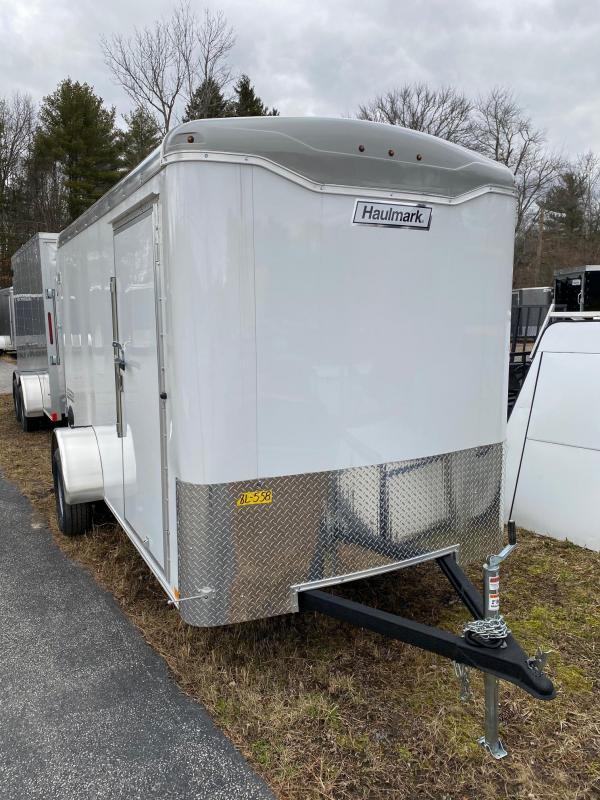 2020 Haulmark Transport 6X12 Enclosed Cargo Trailer w/ Barn Doors - White