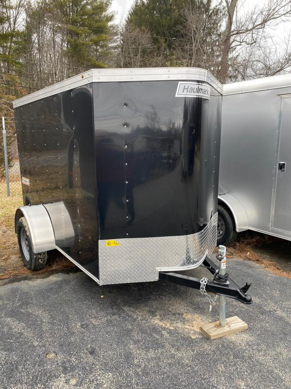 2020 Haulmark Passport 5X8 Enclosed Cargo Trailer w/ BARN DOOR - BLACK
