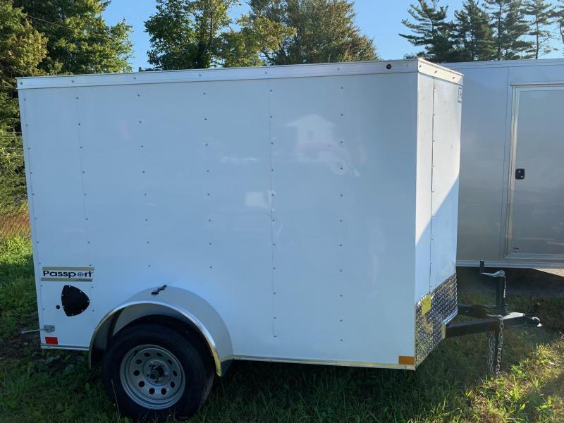 2020 Haulmark Passport 5X8 Enclosed Cargo Trailer w/ BARN DOOR - White