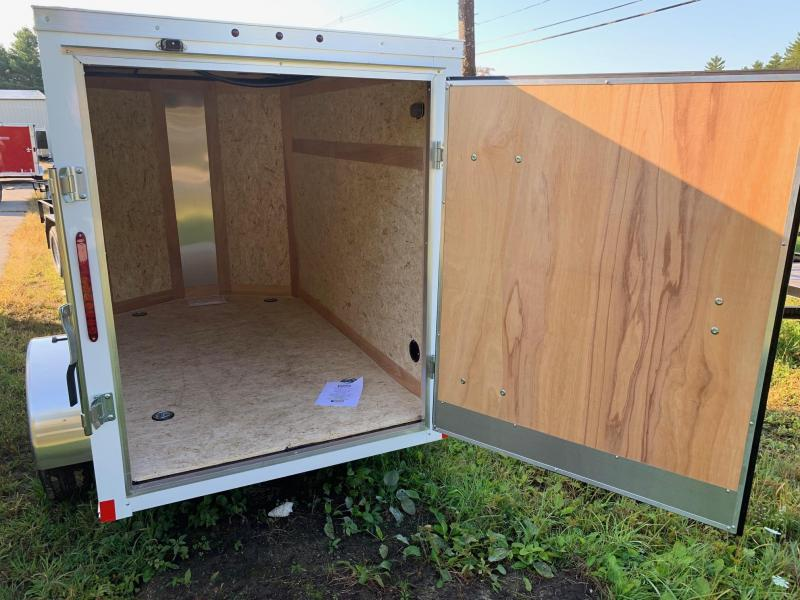 2020 Haulmark Passport 5X8 Enclosed Cargo Trailer w/ BARN DOOR - White
