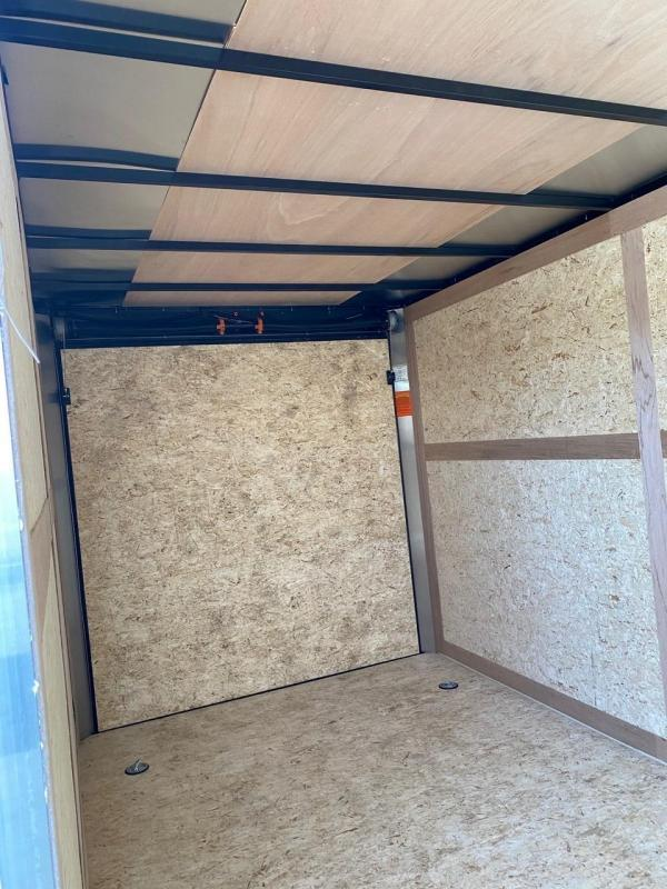 2020 Haulmark Passport 7X14 Enclosed Cargo Trailer - w/ BARN DOORS - BLACK