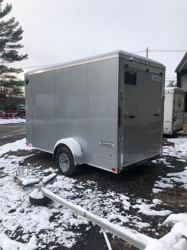 2020 Haulmark Transport 6x12 Enclosed Trailer w RAMP - Silver