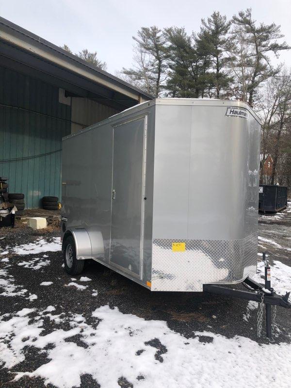 2020 Haulmark Transport 6x12 Enclosed Trailer w RAMP - Silver