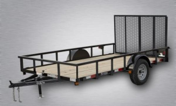 "Pro-Grade Single Axle Landscape 12'X77"" 2990 GVWR -4' Spring Assisted Gate -3""x3""x3/16"" Angle Frame -2""x2"" Tube Top Rail -3"" Channel Tongue- LED Lights -15"" 8 Ply Nitrogen Filled Radial Tires"