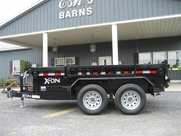 "X-ON Low Profile Dump 60""x10' 10K Flat Tan Paint -Scissor Lift -5' Slide In Ramps -6"" Channel Frame -Tarp Kit Installed -LED Lights -10 Gauge Floor -Spare Mount -Toolbox & Battery Charger -Power Up & Down -15"" 10 Ply Radial Tires"
