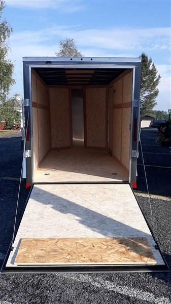 Wells Cargo FastTrac V-Nose 6'x12' 2990 GVWR (Charcoal Gray)