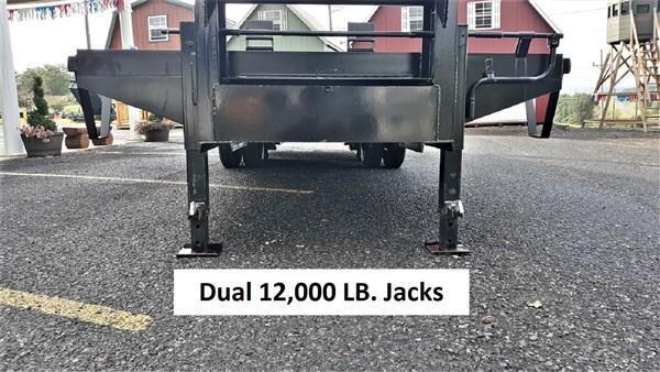 "Pro-Grade Gooseneck Deckover 30' 25K -5' Swing Up Ramps -12"" I-Beam Frame and Neck -Dual 12,000# Jacks -10,000# Oil Bath Axles -16"" Dual Nitrogen Filled Radial Tires"