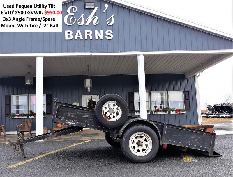 1997 Pequea Single Axle Utility Tilt 6'x10' 2900 GVWR