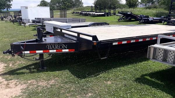 Used 2018 Pro Grade Deckover W/ Pop-Up Dovetail 23' 16000 GVWR