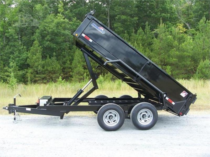 "Hawke Low Profile Dump 80""x12' 12K -Scissor Lift -80"" Slide In Ramps -8"" Channel Frame -6"" Channel Tongue -12 Gauge Floor -24"" Sides -Two Way Tailgate -Power Up & Down -LED Lights -16"" 10 Ply Radial Tires"