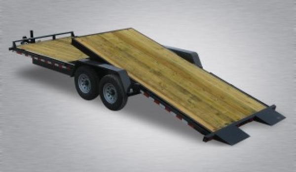 "Pro-Grade Split-Tilt Equipment 20'6"" 15K -8' Fixed Deck -6"" Channel Frame & Tongue -Tool Tray With Lockable Lid -LED Lights -12K Drop Leg Jack -Slipper Spring Suspension -7000# Braking Axles -16"" 10 Ply Nitrogen Filled Radial Tires"