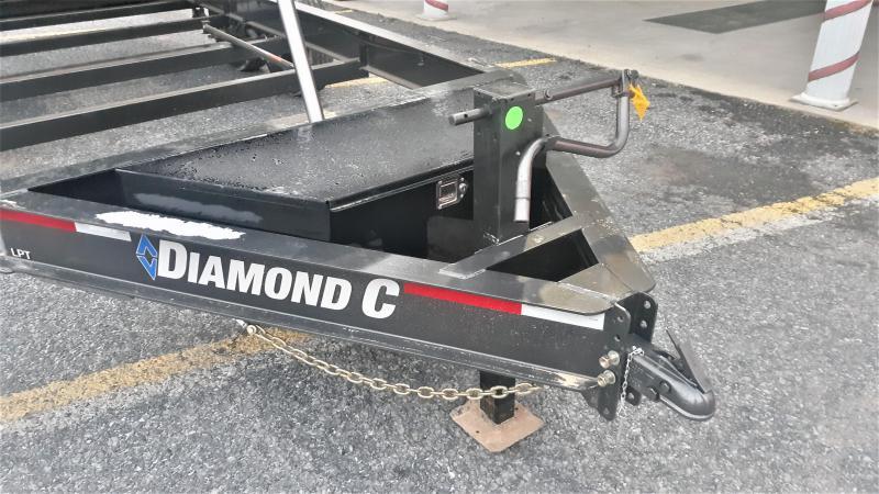 "Diamond C Low Profile Telescopic Dump Trailer 16'x82"" 14.9K -8"" I-Beam Frame -12K Drop Leg Jack -Spare Mount -36"" Side Step -20' Tarp Installed -7,000# Straight Axles -16"" Radial Tires"