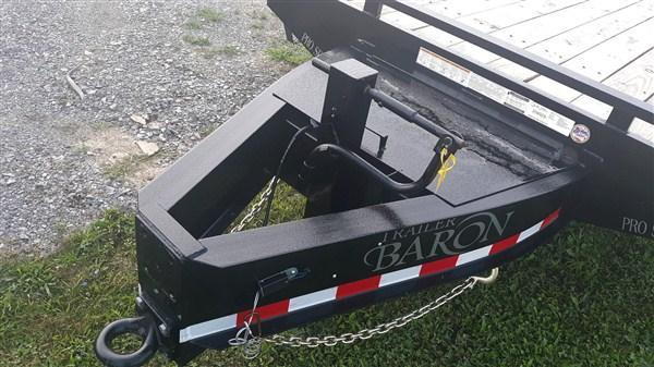 """Pro Grade Pintle Deckover 25' 25K -5' Spring Assisted Ramps With Support Foot -5' Wood Dovetail -12"""" I-Beam Frame -Adjustable Coupler -12K Drop Leg Jack -Tool Tray With Lockable Lid -LED Lights -Slipper Spring Suspension -Dual 16"""" 10 Ply Nitrogen Filled R"""