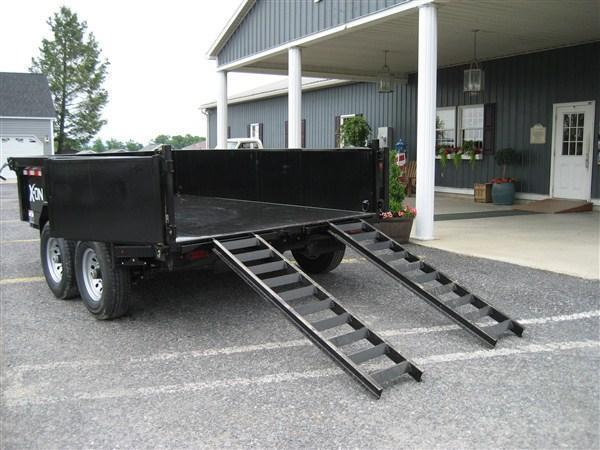 "X-ON Low Profile Dump 60""x10' 10K Equipment Gray Paint -Scissor Lift -5' Slide In Ramps -6"" Channel Frame -Tarp Kit Installed -LED Lights -10 Gauge Floor -Spare Mount -Toolbox & Battery Charger -Power Up & Down -15"" 10 Ply Radial Tires"