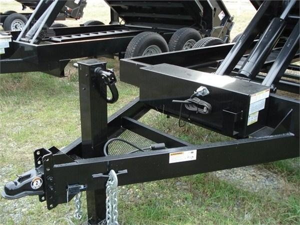 """Hawke Low Profile Dump 80""""x14' 15K -Super Duty Scissor Lift -80"""" Slide In Ramps -8"""" Channel Frame -8"""" Channel Tongue -10 Gauge Floor -24"""" Sides -Two Way Tailgate -Power Up & Down -Cast Iron Adjustable Coupler -LED Lights -16"""" 14 Ply Radial Tires"""