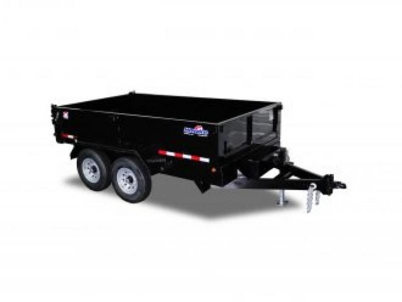 """Hawke Low Profile Dump 80""""x14' 14K -Scissor Lift -80"""" Slide In Ramps -8"""" Channel Frame -6"""" Channel Tongue -10 Gauge Floor -24"""" Sides -Two Way Tailgate -Power Up & Down -Cast Iron Adjustable Coupler -LED Lights -16"""" 10 Ply Radial Tires"""