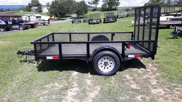"Used 2017 Trailer Baron Single Axle Landscape 10'x77"" 2990 GVWR (Mesh Sides)"