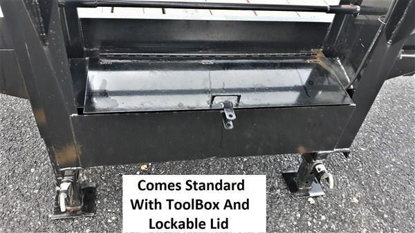 "Pro-Grade Gooseneck Deckover 25' 25K -5' Swing Up Ramps -12"" I-Beam Frame and Neck -Dual 12,000# Jacks -10,000# Oil Bath Axles -16"" Dual Nitrogen Filled Radial Tires"