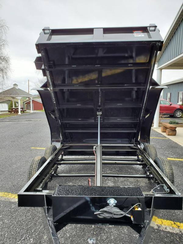 "2020 Hawk Trailers Low Profile Dump 72"" X 10' 7000 GVWR Dump Trailer"