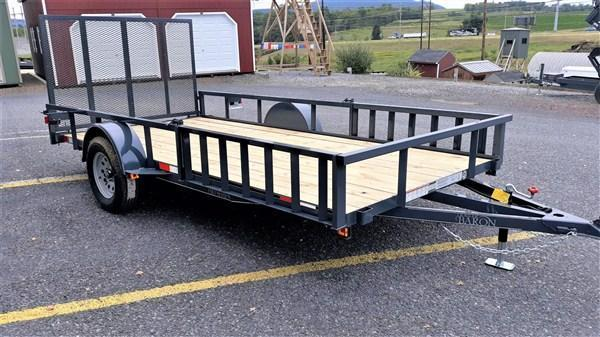 """Pro-Grade Single Axle Landscape 12'X77"""" 2990 GVWR -Optional ATV Rails -4' Spring Assisted Gate -3""""x3""""x3/16"""" Angle Frame -2""""x2"""" Tube Top Rail -3"""" Channel Tongue- LED Lights -15"""" 8 Ply Nitrogen Filled Radial Tires"""