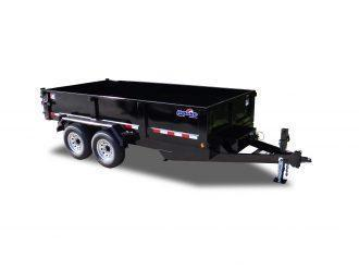 "Hawke Low Profile Dump 80""x14' 15K -Super Duty Scissor Lift -80"" Slide In Ramps -8"" Channel Frame -8"" Channel Tongue -10 Gauge Floor -24"" Sides -Two Way Tailgate -Power Up & Down -Cast Iron Adjustable Coupler -LED Lights -16"" 14 Ply Radial Tires"