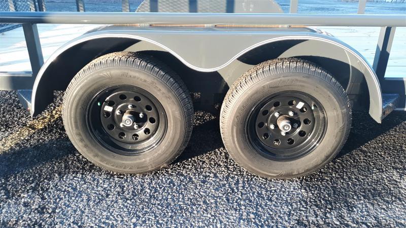 "X-On Tandem Axle Landscape 83""x14' 7K -4"" Channel Frame -2""Pipe Top -Straight Deck -Teardrop Fenders -LED Lights -15"" Radial Tires"