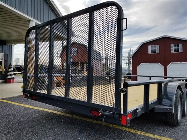 """X-On Tandem Axle Landscape 83""""x18' 7000 GVWR  -4"""" Channel Frame -2"""" Pipe Top -Straight Deck -Teardrop Fenders -LED Lights -15"""" Radial Tires"""