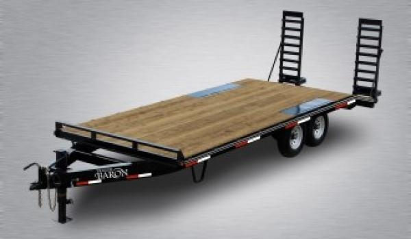 "General Duty Pintle Deckover 20' 10K -5' Swing Up Ramps -8"" I-Beam Frame -Adjustable Coupler -12K Drop Leg Jack -4' Wood Dovetail -Sealed Beam Lights -15"" 8 Ply Nitrogen Filled Radial Tires"