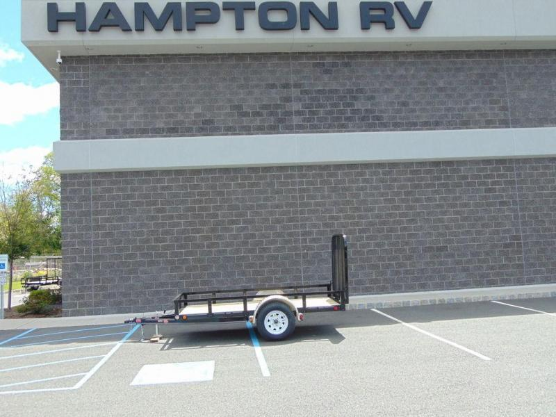 "2019 PJ Trailers 60"" Single Axle Channel Utility (U6) 10'"