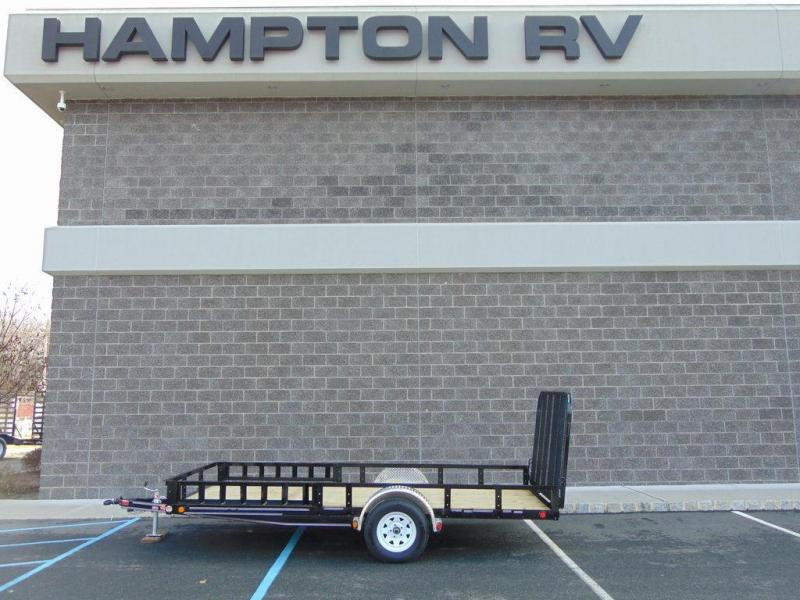 "2020 PJ Trailers 83"" Single Axle Channel Utility (U8) 14'"