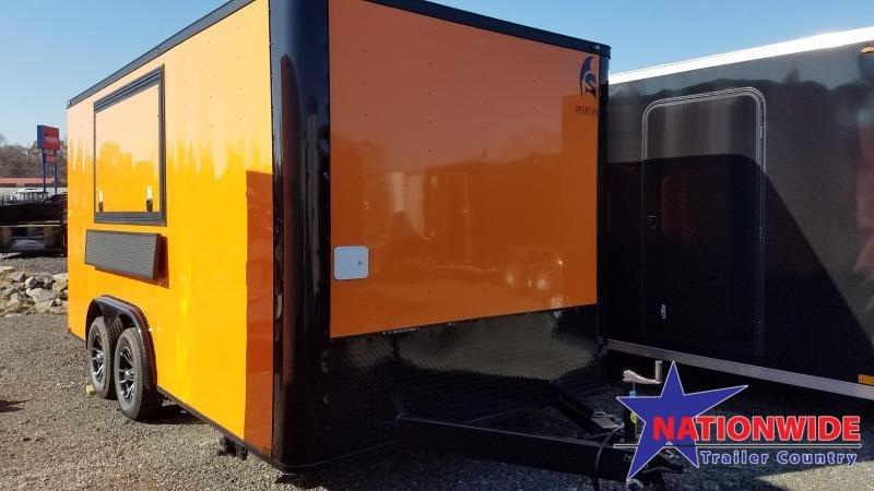 2020 Spartan Cargo 8X16 TA Vending / Concession Trailer