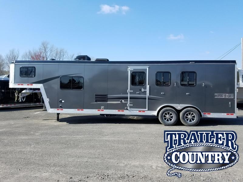 2019 Bison 7311TB 3H TRAIL BOSS WITH 11' SHORT WALL LQ Horse Trailer