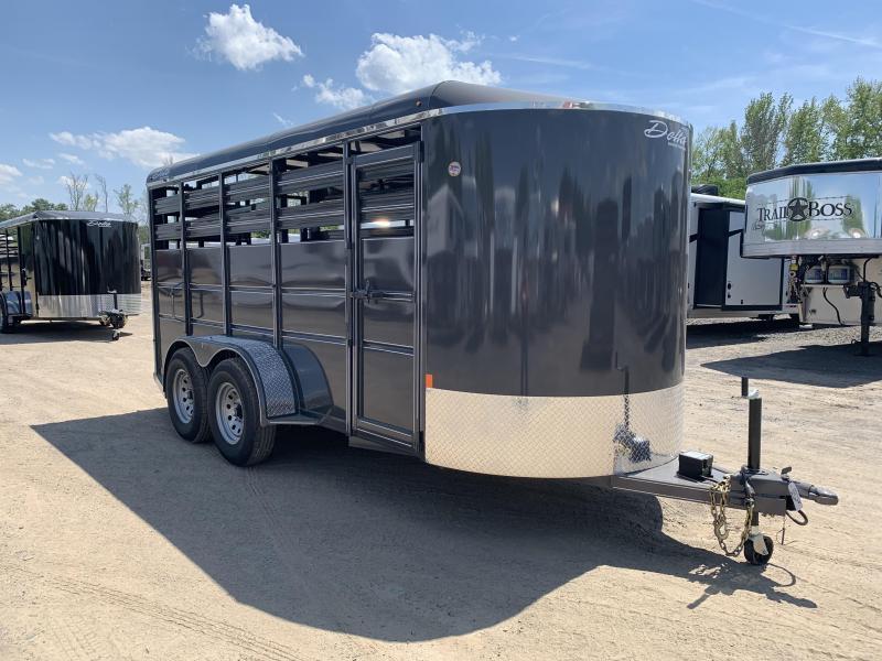 2019 Delta Manufacturing 16FT STOCK Livestock Trailer
