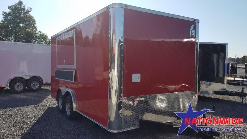 2020 Spartan Cargo 8X16 TA Vending / Concession Trailer