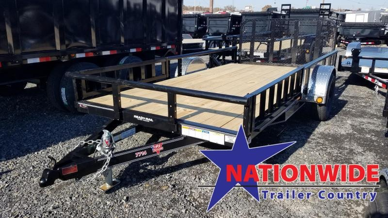 2020 PJ Trailers 77X14 SA Utility Trailer