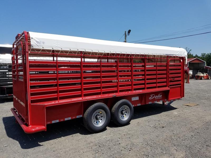 ***PRICE REDUCTION***2018 Delta Manufacturing 600 CATTLEMAN Livestock Trailer