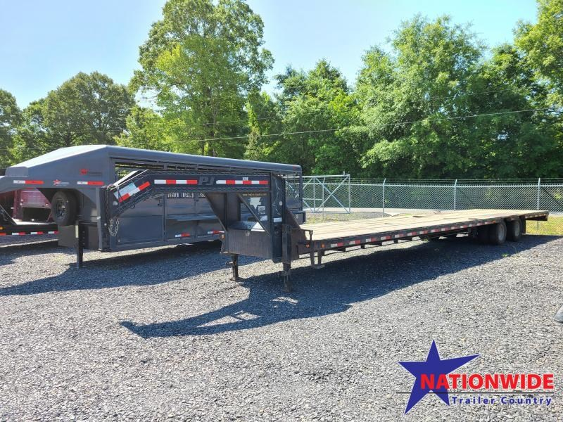 2012 PJ Trailers 102X40 LOW PRO Flatbed Trailer