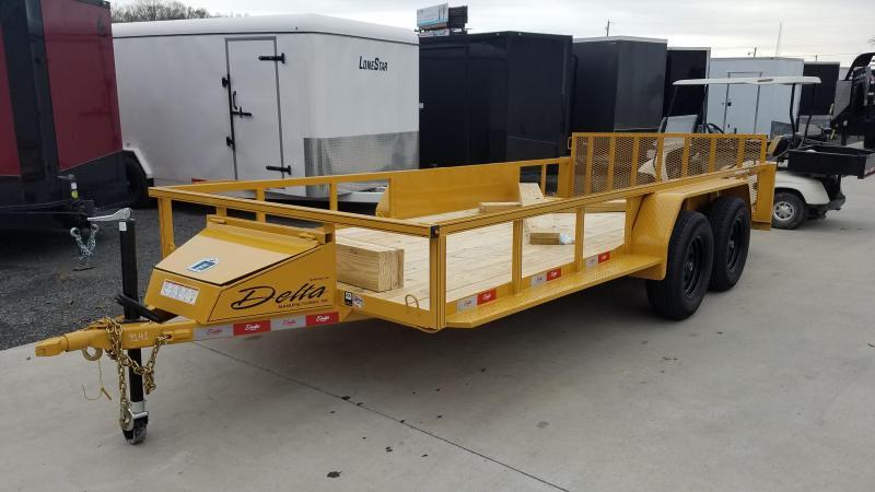 2020 Delta Manufacturing 76X16 TA Utility Trailer