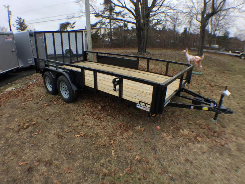 2019Quality Steel and Aluminum 7x16 ta Utility Trailer