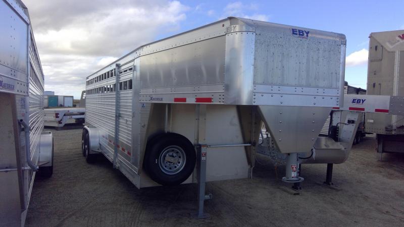 "2020 EBY 24' x 6'11"" x 6'6'' Maverick GN Slat B - Dakota Edition with Spare  GN Livestock"