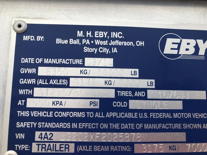 2015 EBY Used 2015 EBY 20'x6'11