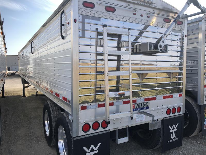 "USED 2018 WILSON 41' X 96"" X 66"" Grain Hopper Trailer"
