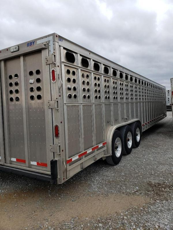 "2017 EBY Ruff Neck 39'6""x8'x6'6"" Punch Panel Livestock Trailer"