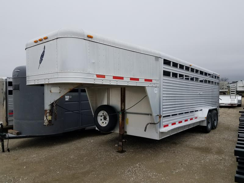 "Used 1999 Featherlite 20' x 7' x 6'5"" Gooseneck Trailer"