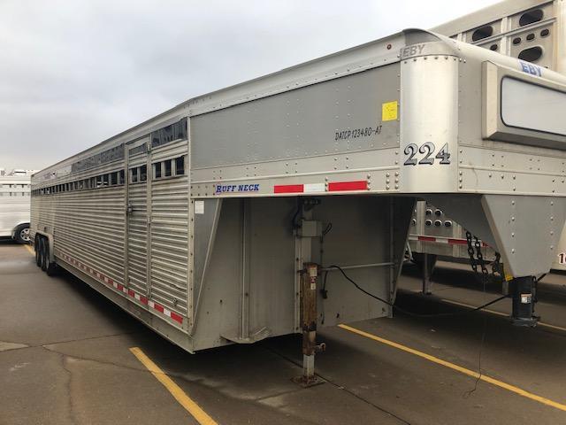 2017 EBY 40'x8' Ruff Neck Gooseneck Livestock Trailer