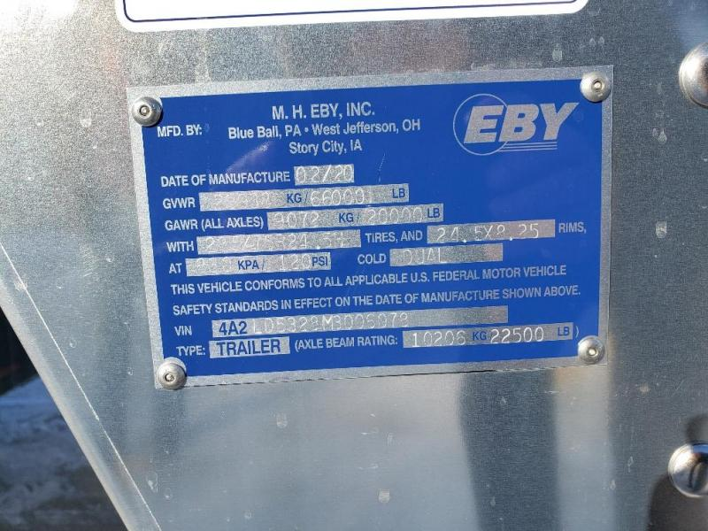 "2021 EBY Trans Pork Advantage 53'x102""x13'6"" Drop Floor"