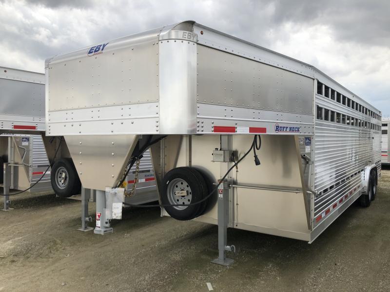 """2020 EBY 26'x8'x6'6"""" Ruff Neck Livestock Trailer"""